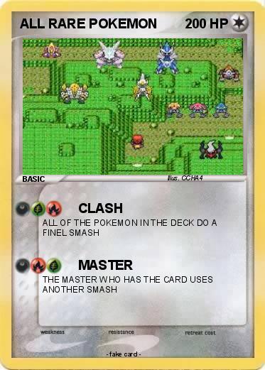 all rare pokemon. Pokemon ALL RARE POKEMON