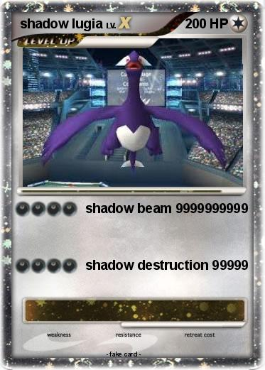 Pokémon shadow lugia 994 994 - shadow beam 9999999999 - My ...