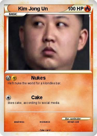 Pokémon Kim Jong Un 14 14 - Nukes - My Pokemon Card