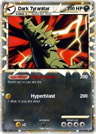 Pokémon Dark Tyranitar 63 63 - Hyperbeam - My Pokemon Card