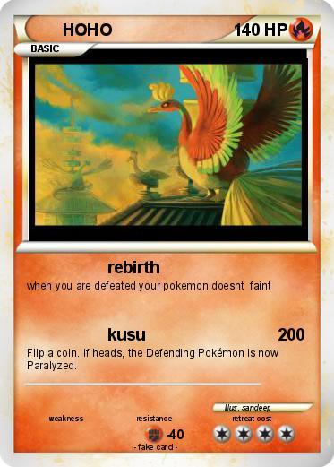 Hoho pokemon card
