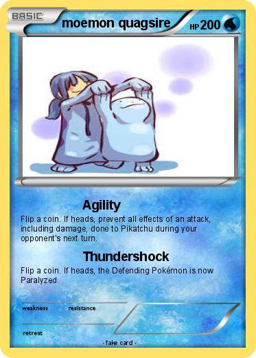 Pokémon moemon quagsire - Agility - My Pokemon Card Wailord And Quagsire