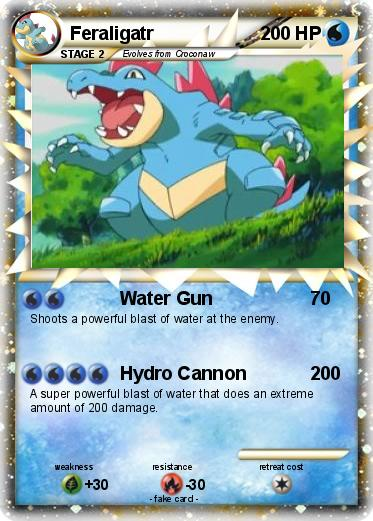 Pokémon Feraligatr 327 327 - Water Gun - My Pokemon Card Shiny Feraligatr Card