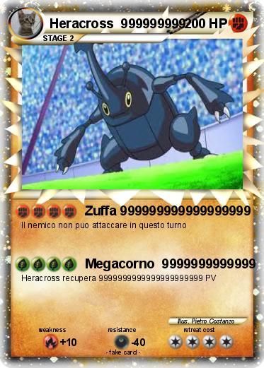 Pokemon Heracross 999999999 Mega Heracross Card