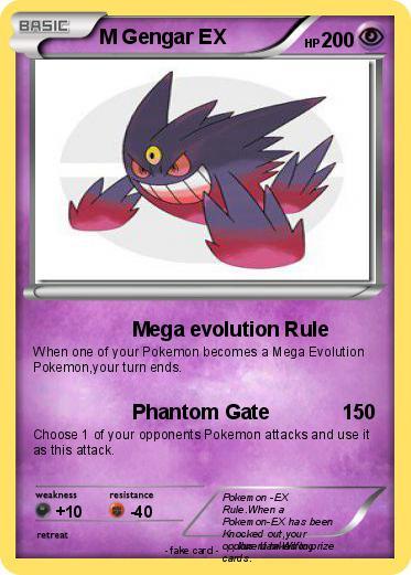 Pokémon M Gengar EX 9 9 - Mega - 38.7KB