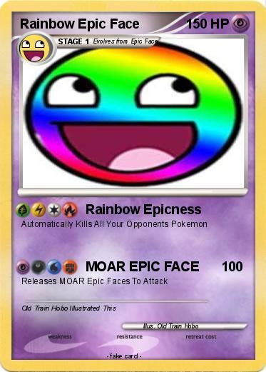 pok233mon rainbow epic face 16 16 rainbow epicness my