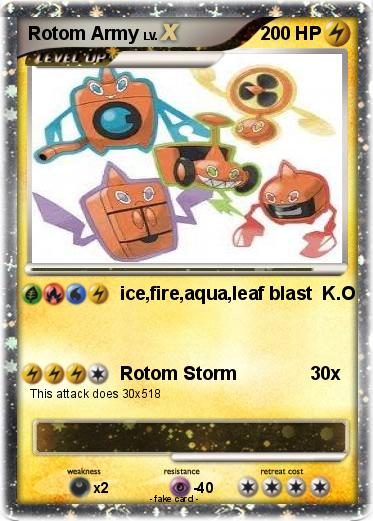 Pok 233 Mon Rotom Army Ice Fire Aqua Leaf Blast K O My