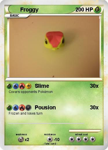 Pokémon Froggy 101 101 - Slime - My Pokemon Card