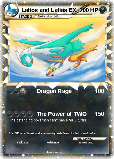 Pokmon Latios And Latias EX 6 Dragon Rage My