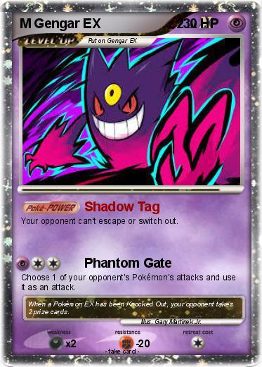 Pokémon M Gengar EX 2 1 1 - Shadow Tag - My Pokemon Card