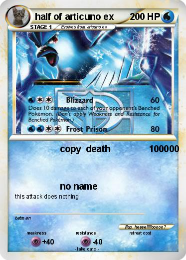 Pokemon half of articuno exArticuno Ex Pokemon Card