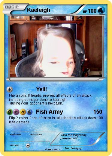 Pokmon Kaeleigh Yell My Pokemon Card