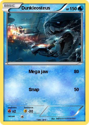 Pokmon Dunkleosteus 19 Mega Jaw My Pokemon Card