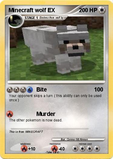 Pokemon minecraft wolf ex