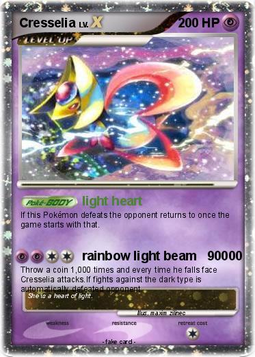 Pokémon Cresselia 416 416 - light heart - My Pokemon Card