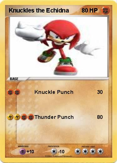 knuckles hedgehog. Pokemon Knuckles the Echidna