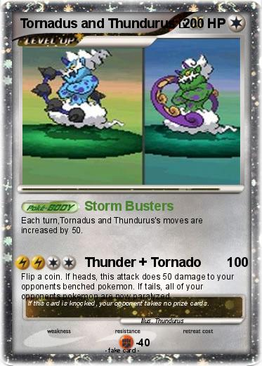 Pokémon Tornadus and Thundurus - Storm Busters - My ...