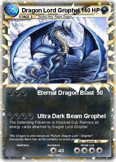 Pok mon dragon lord grophel eternal dragon blast my pokemon card - Carte pokemon dragon ...