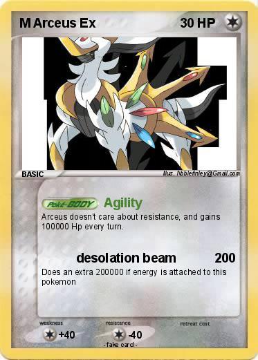 Pok mon m arceus ex 13 13 agility my pokemon card - Pokemon arceus ex ...