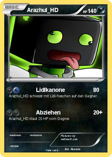 Pokmon Arazhul HD 1 Lidlkanone My Pokemon Card