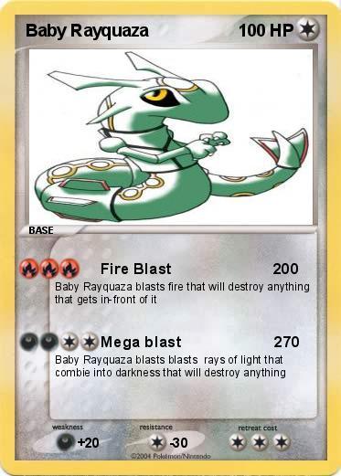 Pokémon Baby Rayquaza 3 3 - Fire Blast 200 - My Pokemon Card