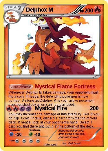 Pokémon Delphox M 1 1 - Mystical Flame Fortress - My ...