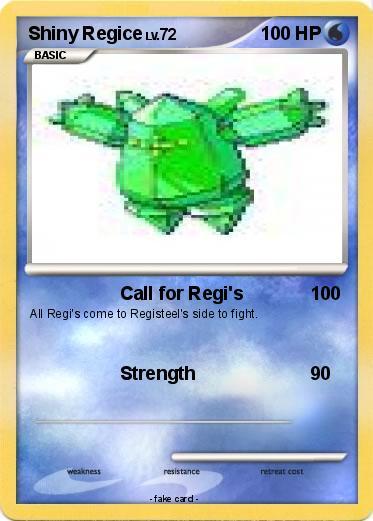 Pok 233 Mon Shiny Regice 1 1 Call For Regi S My Pokemon Card