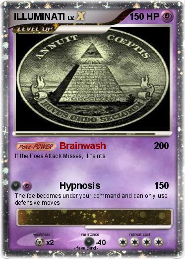 Pok 233 mon illuminati 14 14 brainwash my pokemon card