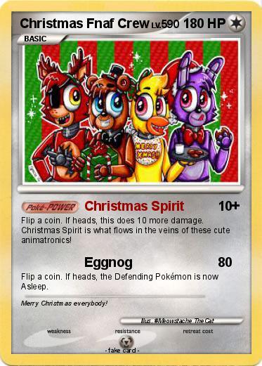 Fnaf Christmas.Pokemon Christmas Fnaf Crew