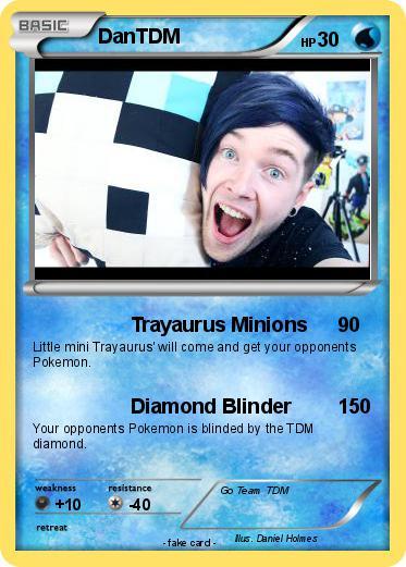 Pok 233 Mon Dantdm 673 673 Trayaurus Minions My Pokemon Card