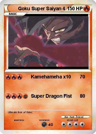 Pokemon Goku Super Saiyan 4Goku Super Saiyan 4 Kamehameha X10