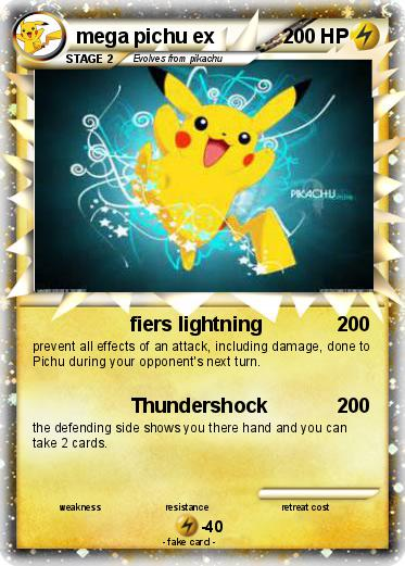 Pok 233 mon mega pichu ex 2 2 fiers lightning my pokemon card