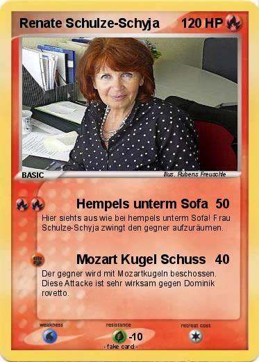Pok Mon Renate Schulze Schyja Hempels Unterm Sofa My Pokemon Card