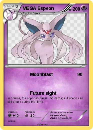Pokémon MEGA Espeon 4 4 - Moonblast - My Pokemon Card