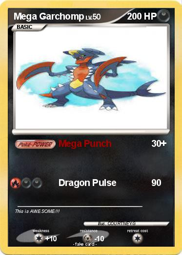 Pokémon Mega Garchomp 14 14 - Mega Punch - My Pokemon Card