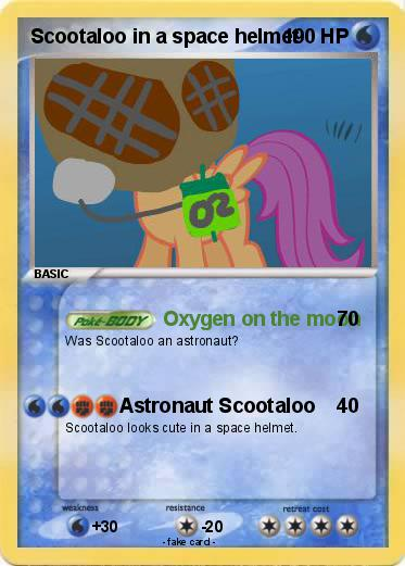 Pokemon Scootaloo In A Space Helmet Founded in 1987, met offers the most comprehensive cycling helmet range on the market to protect all bike riders, regardless of discipline, age or budget. my pokemon card