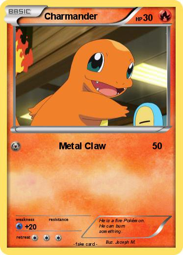 What level does Charmander learn metal claw in Pokemon Blue