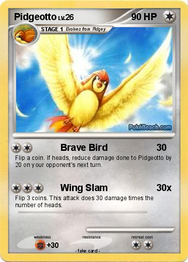 Pokémon Pidgeotto 40 40 - Brave Bird - My Pokemon Card
