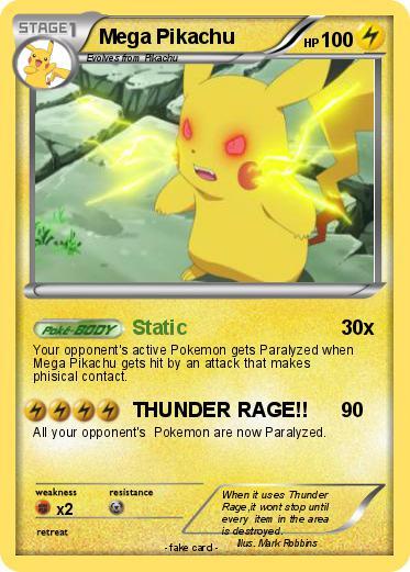 Pokemon Mega Pikachu 132