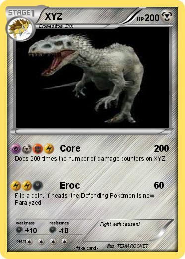 Pokmon XYZ 14 Core My Pokemon Card