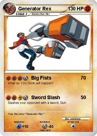pokémon generator rex 12 12  big fists  my pokemon card