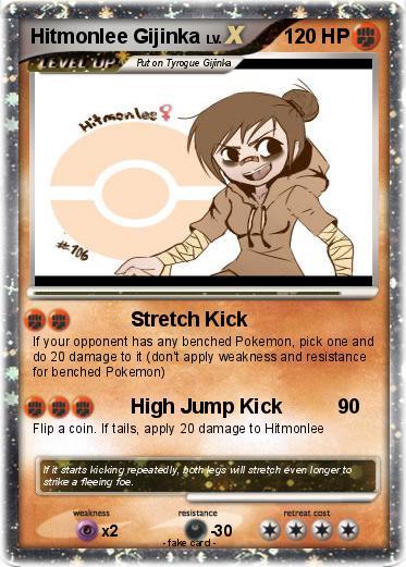Pokémon Hitmonlee Gijinka - Stretch Kick - My Pokemon Card  Hitmonlee Gijinka Female