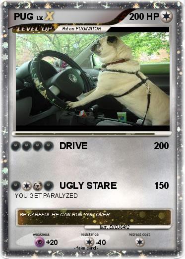 Pokmon PUG 89 DRIVE My Pokemon Card