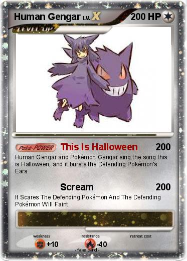 Human pokemon cards