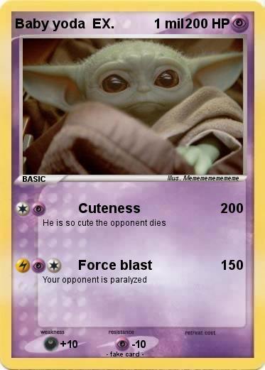 Pokemon Baby Yoda Ex 1 Mil