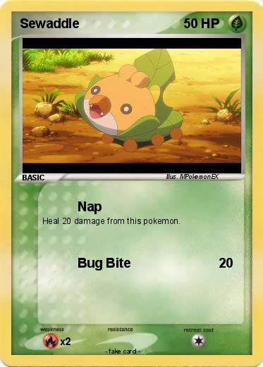 pok233mon sewaddle 89 89 nap my pokemon card