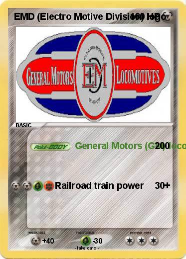 pok mon emd electro motive division logo general motors