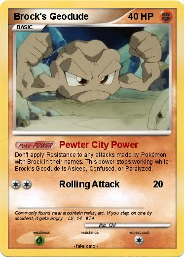 Pokemon Brock s Geodude 1