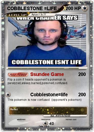Life Spelled In Cobble : Pokémon cobblestone life ssundee game my pokemon card