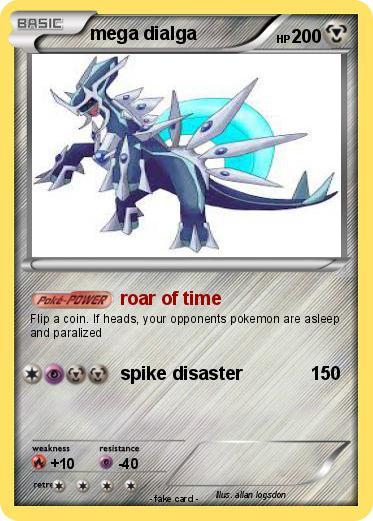 Pokémon mega dialga 76 76 - roar of time - My Pokemon Card